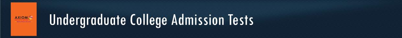 Undergraduate-College-Admission-Tests